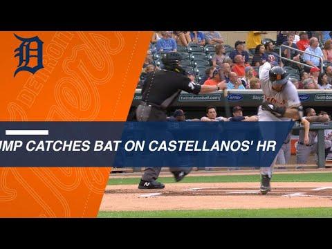 Umpire catches Castellanos' bat flip on homer
