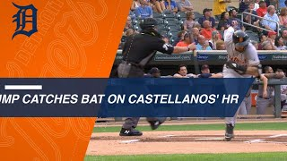 Umpire catches Castellanos' bat flip on homer