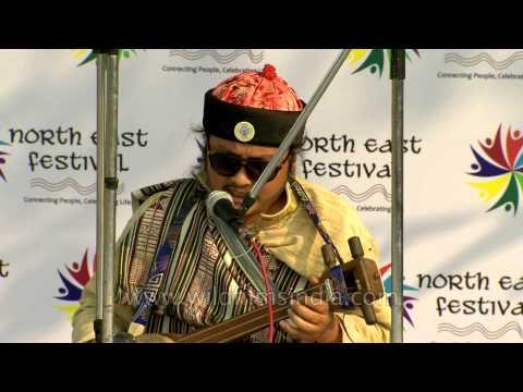 Folk singer Mickma Tshering Lepcha of Sikkim