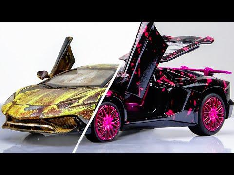Restoration abandoned Lamborghini rebuilding Model Car  || Splatter Paint Fx