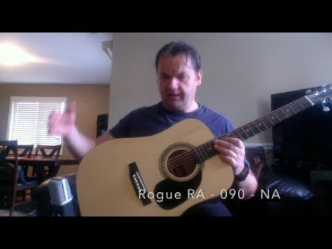The CHEAPEST Guitar I Own Rogue RA-090-NA Review