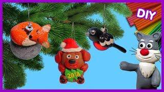 лепим игрушки на ёлку - Новый год  Видео Лепка