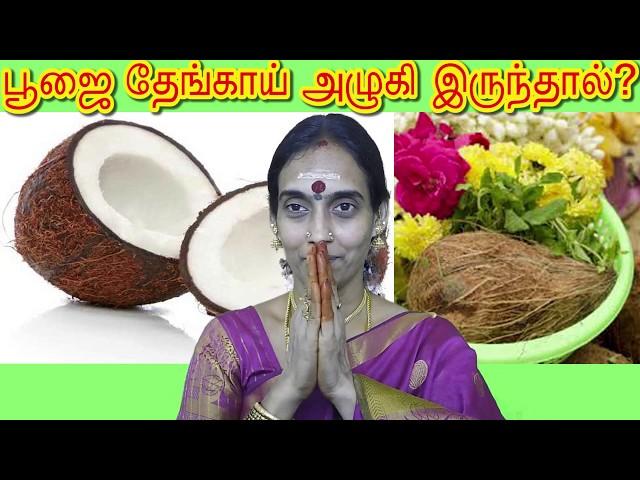 பூஜை தேங்காய் அழுகி இருந்தால் ? If the puja coconut is rotten?