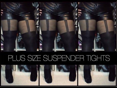 Plus Size Suspender Leggings