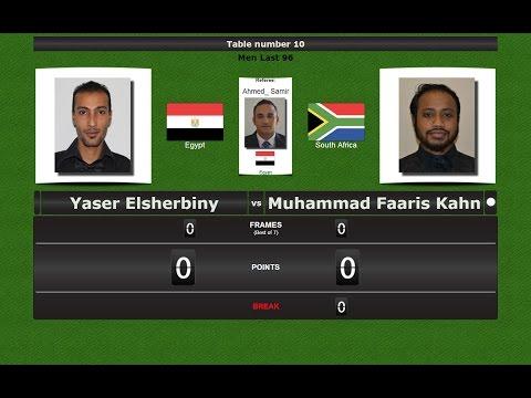 Snooker 6 reds Last 128 : Yaser Elsherbiny vs Muhammad Faaris Kahn