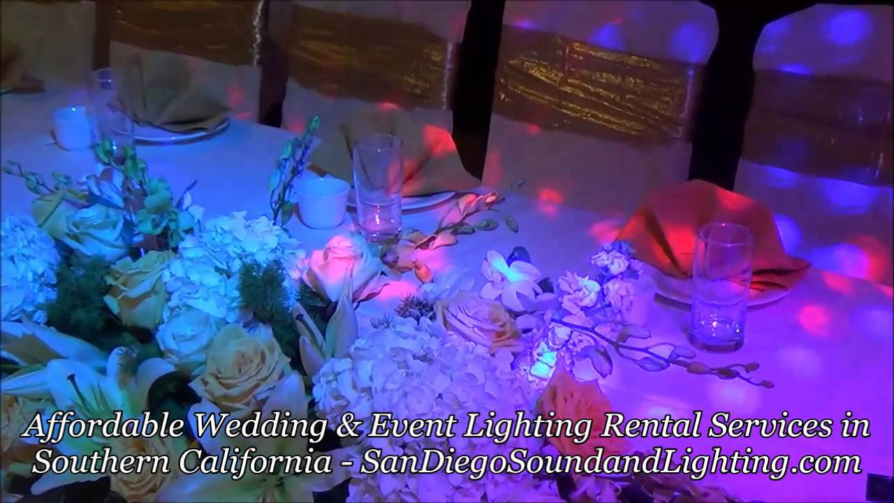 Wedding Decorations Blue Purple Up Lights String Lighting Cake