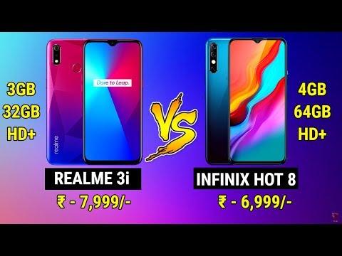 Infinix Hot 8 vs Realme 3i | Best Phone Under 8000 | Comparison Realme vs  Infinix | Upto 8k Phones