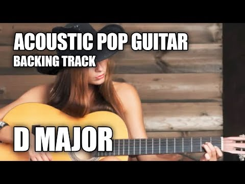 acoustic pop guitar backing track in d major youtube. Black Bedroom Furniture Sets. Home Design Ideas