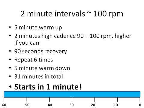 31 Minute Indoor Cycle Turbo Trainer Workout -- 2 minute intervals & 90 second recovery