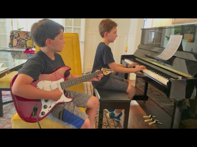 """Student Videos: Brothers Playing, Reading & Sharing """"Let It Be"""" on Guitar & Piano"""
