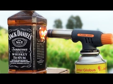 JACK DANIELS vs GAS TORCH EXPERIMENT GONE WRONG