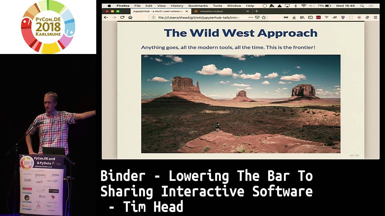 Image from Binder - lowering the bar to sharing interactive software