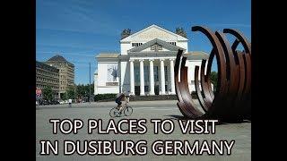 duisburg germany - driving trough elite part of Duisburg-NRW-Germany