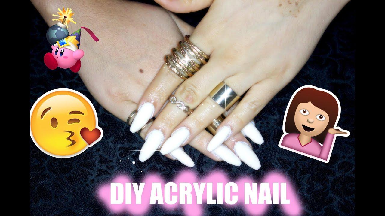 diy acrylic nails home