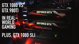 overclocked nvidia gtx 1080 vs 980 ti   benchmarks sli various games