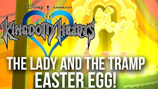 Kingdom Hearts - The Lady and The Tramp Easter Egg!
