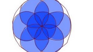 How to draw a flower of life