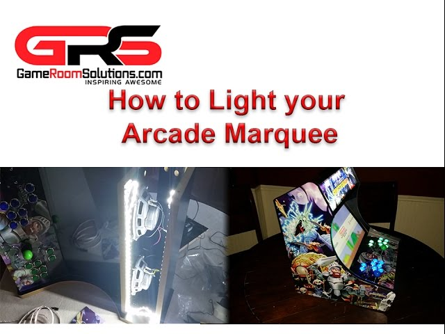 How to Light an Arcade Marquee with LED Light Strips
