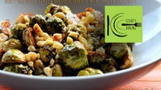 Honey-balsamic Glazed Brussels Sprouts With Toasted Hazelnuts (stevescooking)