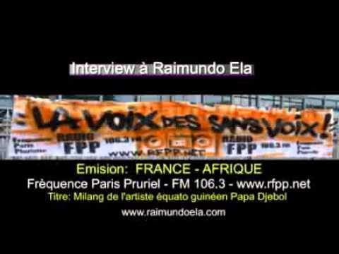 Intervieuw Raimundo Ela dans l'émision France Afrique | FM106.3 Fréquence Paris Pluriel