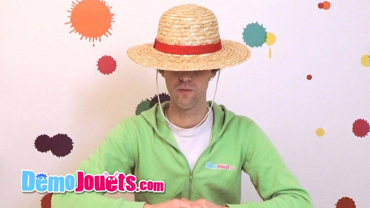 Test Chapeau paille Luffy One Piece de Obyz - Démo Jouets - YouTube 84f04c4777e