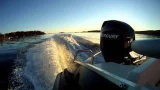 Mercury F60 EFI in sunset