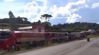 Greve dos caminhoneiros em São José do Cedro