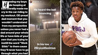 LeBron James Records Bronny & Bryce Hooping At 5AM!