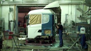 Кузовной ремонт грузовиков(Как ремонтируют кабины и рамы грузовиков после ДТП. Gallax сервис., 2015-05-15T09:25:44.000Z)