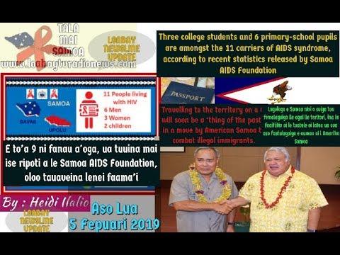 To'a 9 ni fanau aooga, tauaveina le faamai AIDS i Samoa : TALA MAI SAMOA 5Fep2019