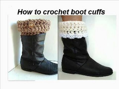 Boot Cuffs To Crochet Crochet Pattern How To Crochet Easy Boot