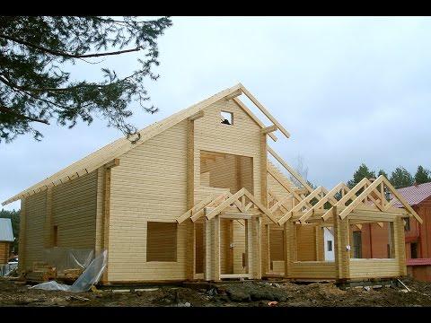 Деревянные дома, проекты домов из клееного бруса, дома из