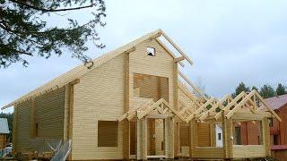 видео Дома из пиленого бруса: преимущества, особенности, строительство