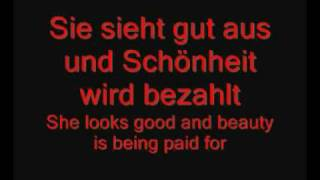 Rammstein - Das Model lyrics with english subtitles