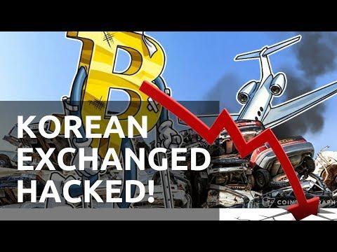 KOREAN EXCHANGE HACKED, BITCOIN FALLS, BUY THE DIP!