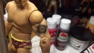 Painting tattoo on Chris Jericho figure