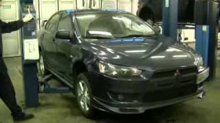 Тесты тормозных колодок Brembo для Mitsubishi Lancer