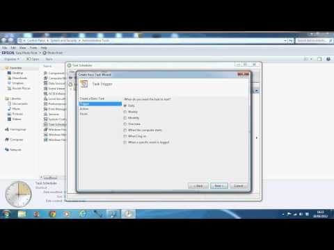 How to | Windows 7 Shutdown Task scheduler