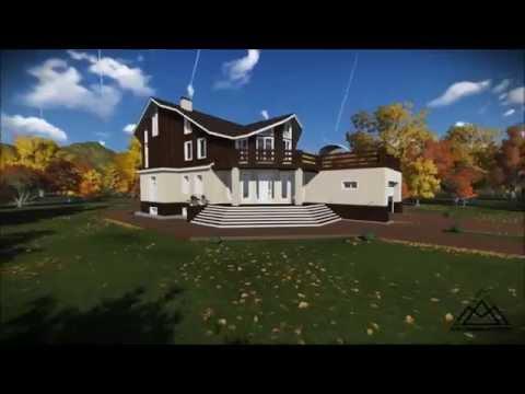 Индивидуальный жилой дом из кирпича и бруса