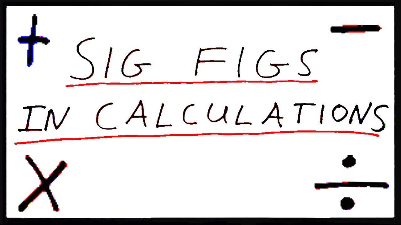 Significant Figures in Calculations - YouTube