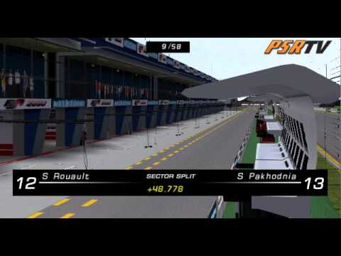 rFactor F1 2009 Formula SimRacing World Championship Australian Grand Prix Full Broadcast