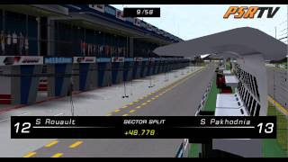rFactor F1 2009 Formula SimRacing World Championship Australian Grand Prix Full Broadcast