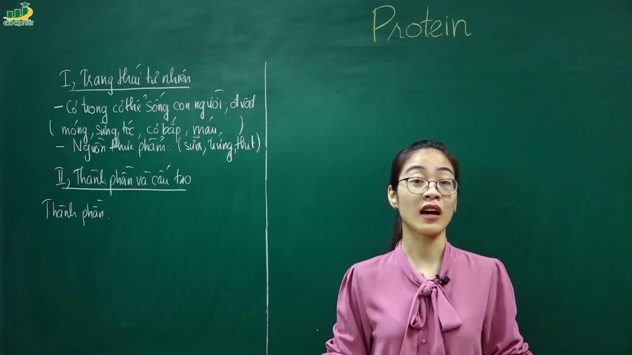 Hóa Học Lớp 9 – Bài 53 Protein hóa học lớp  9 | Cô Nguyễn Thị Kiều Anh