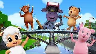 London Bridge faller ned | rim för barn | svenska barnsången | Preschool Song | London Bridge Rhyme