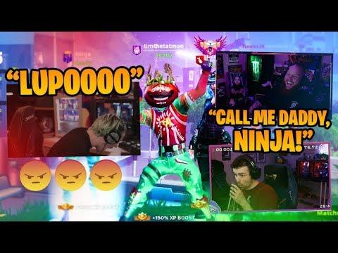 NINJA AND LUPO TROLLING EACH OTHER!! W/ NINJA, DRLUPO & FEARITSELF - Fortnite Battle Royale