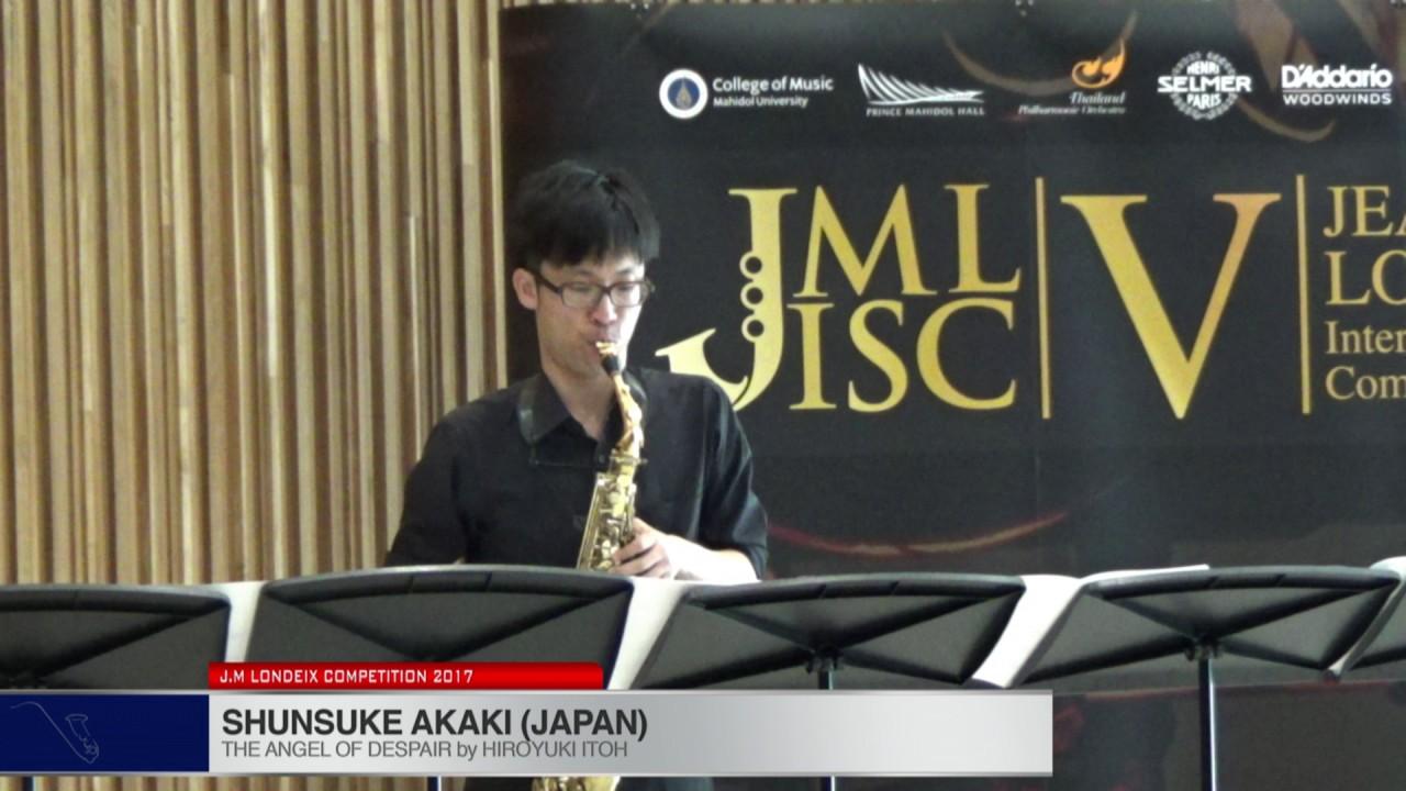 Londeix 2017 - Shunsuke Akaki (Japan) - The Angel Of Despair by Hiroyuki Itoh