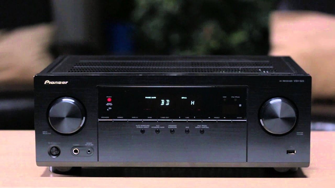 VSX-523-K - 5 1 Channel AV Receiver Featuring 3D and 4K Ultra HD
