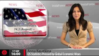 InstaForex News 17 September.  US Statistics Pressed by Global Economic Woes