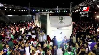 جمهور المصري البورسعيدي يحتفل بـ«اتوبيس» ناديه الجديد