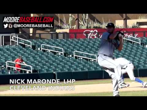 Nick Maronde, LHP, Cleveland Indians, Pitching Mechanics, @SlowMoMechanics @MooreBaseball